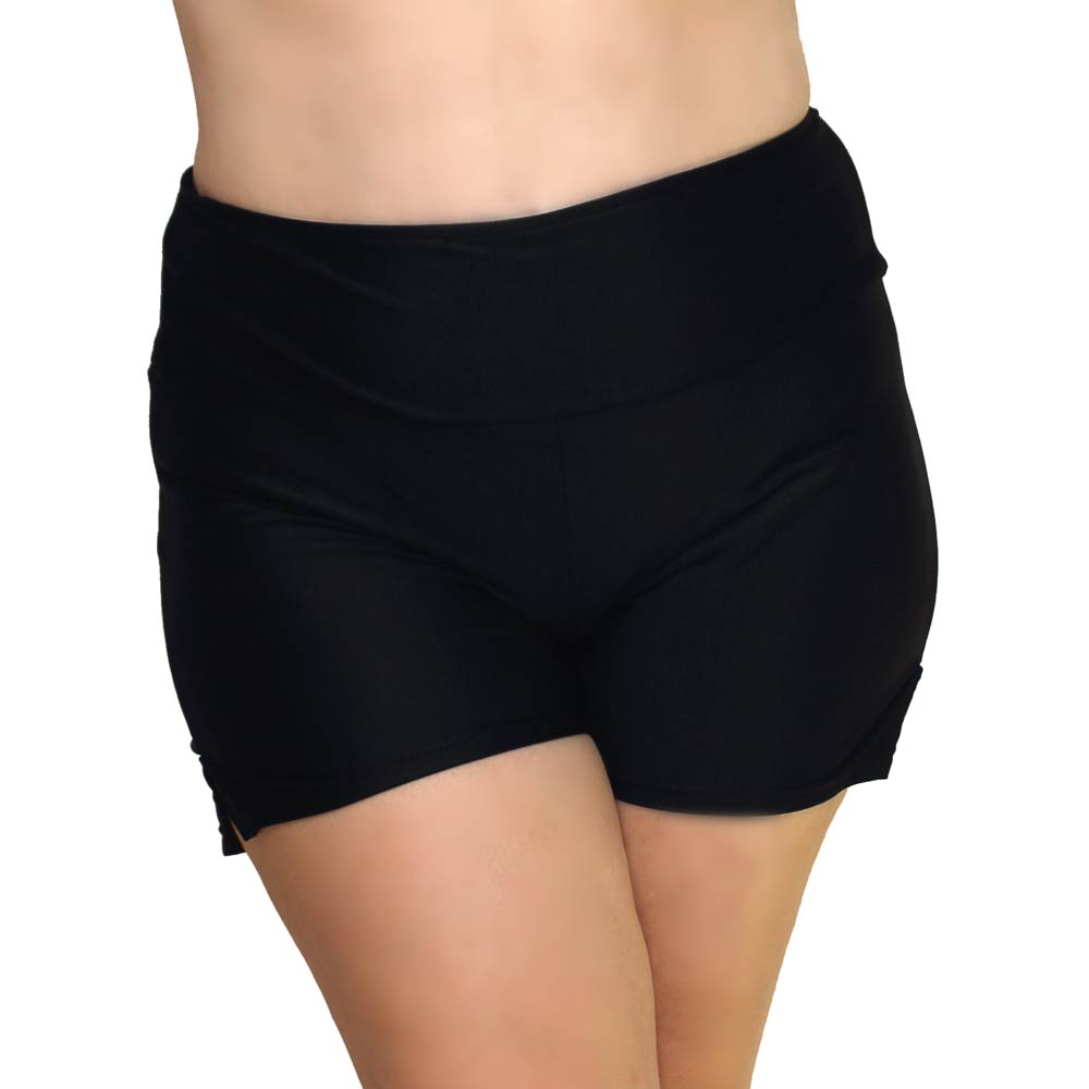 Plus Size Women's Swim Shorts with Built in Panty   Curvy